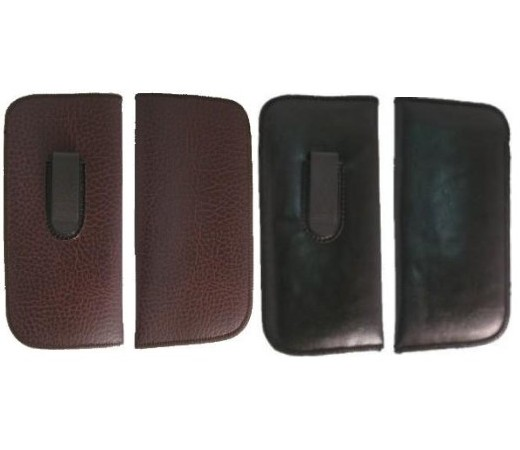 Leather Case with Clip S-CR-B-76