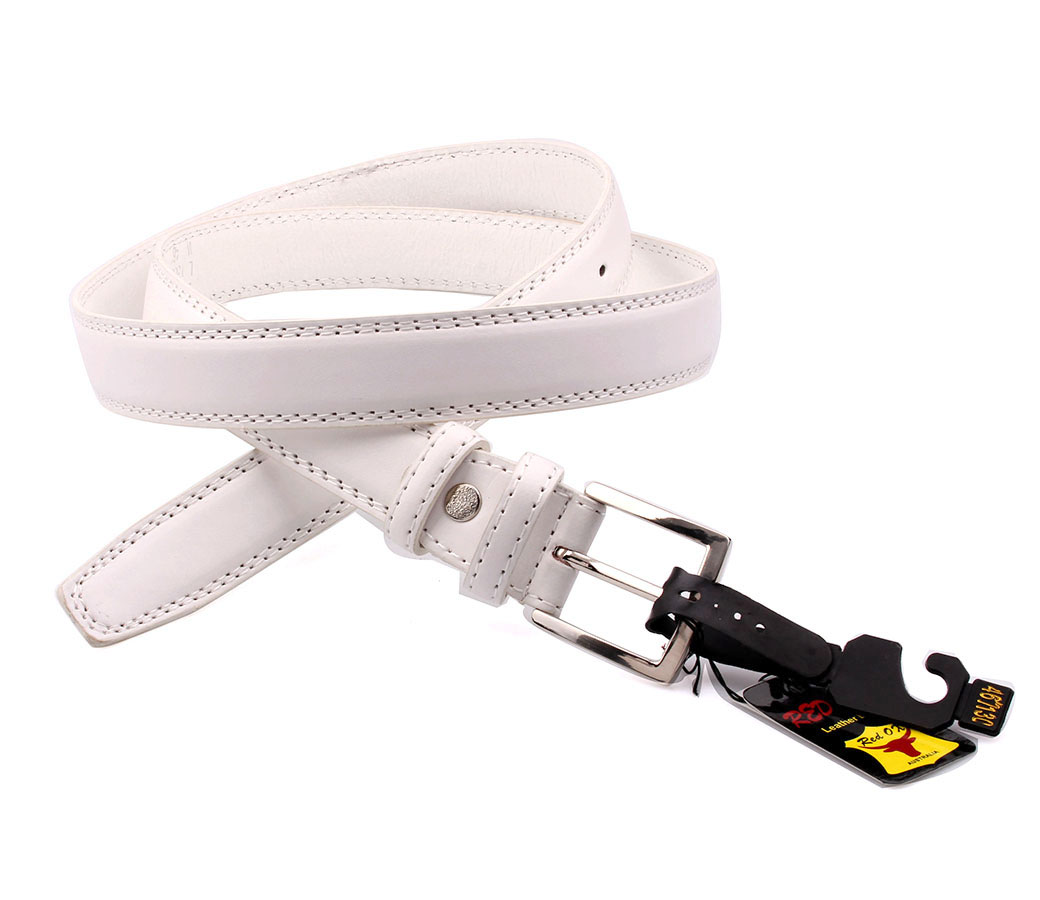 Bulk Buy Leather Belts BLT1110-2 3cm White