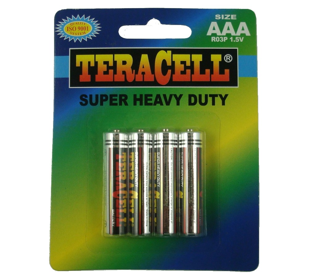 TeraCell Battery Size AAA Super Heavy Dudy BP4