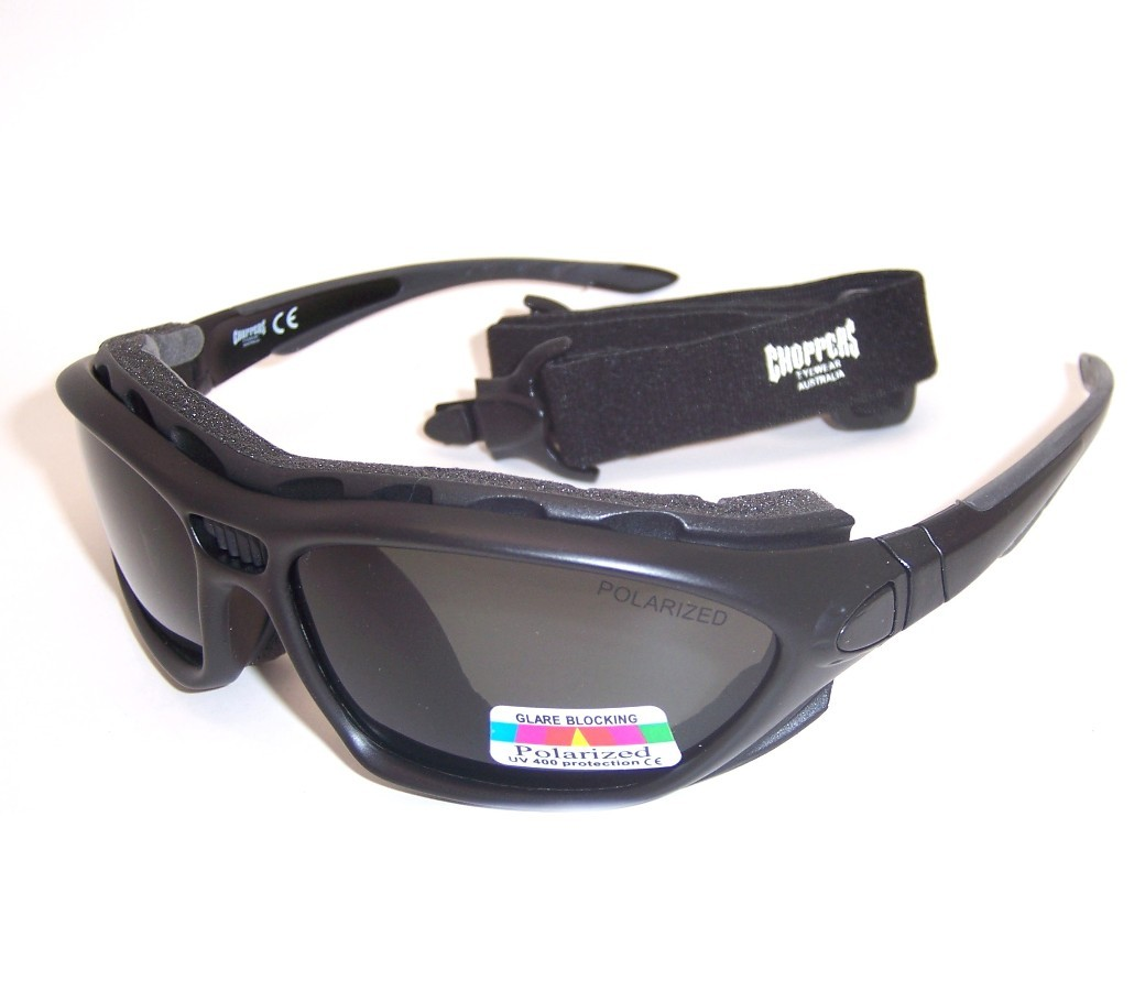 Choppers Convertible Polarized Goggles Sunglasses 8804-PL