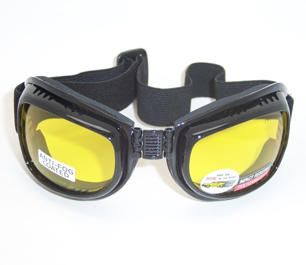 Aviator Night Drive Yellow Lens Goggle Glasses (Anti-Fog Coated) 90746-YL