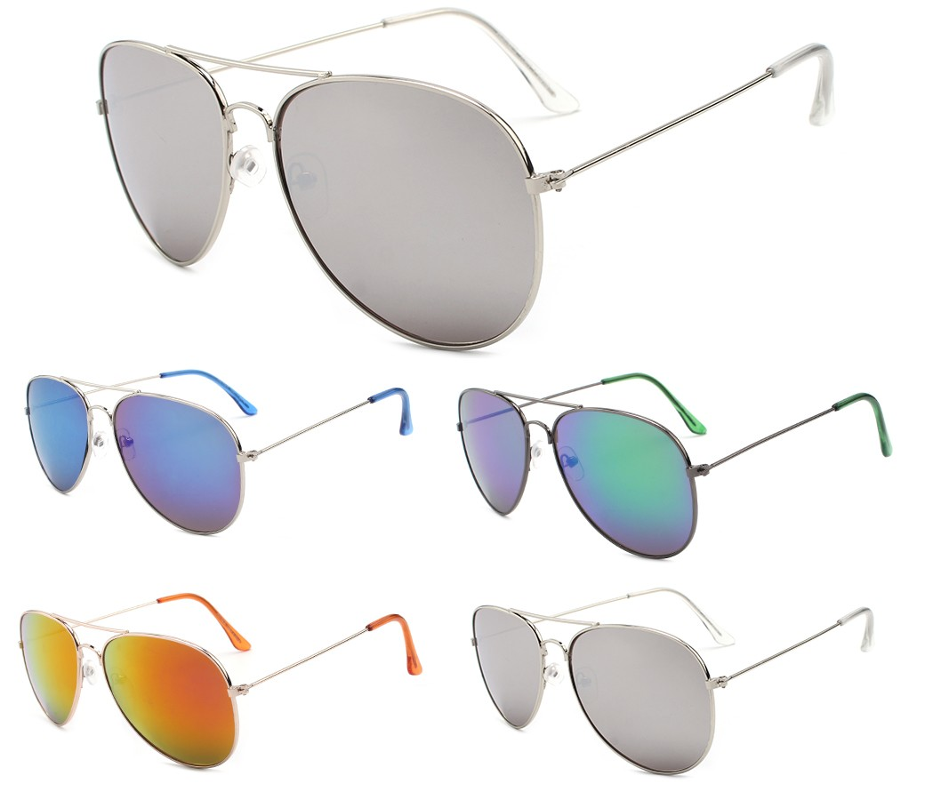 Aviator Metal Tinted Lense Sunglasses AV007-2