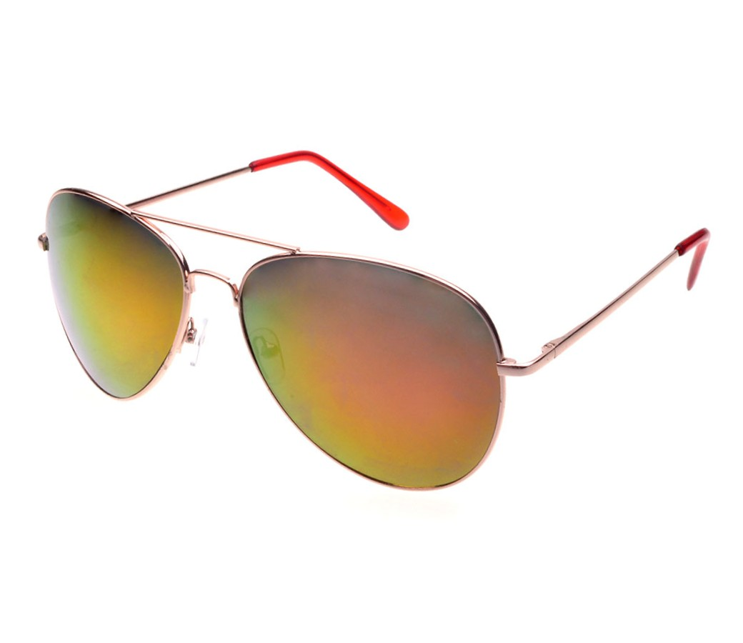 Aviator Metal Tinted Lens Sunglasses (Spring Tenple, Large Size) RB006-2