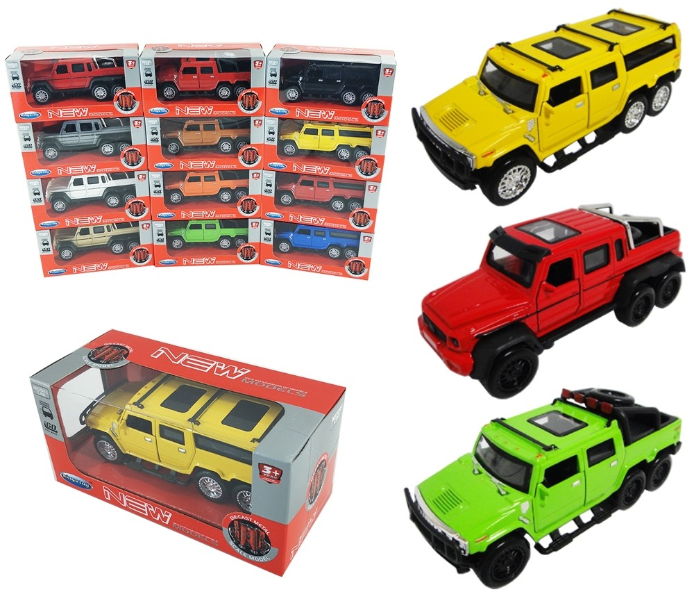 1:36 Diecast Cars Hummer & Benz 3 assorted FY6088W