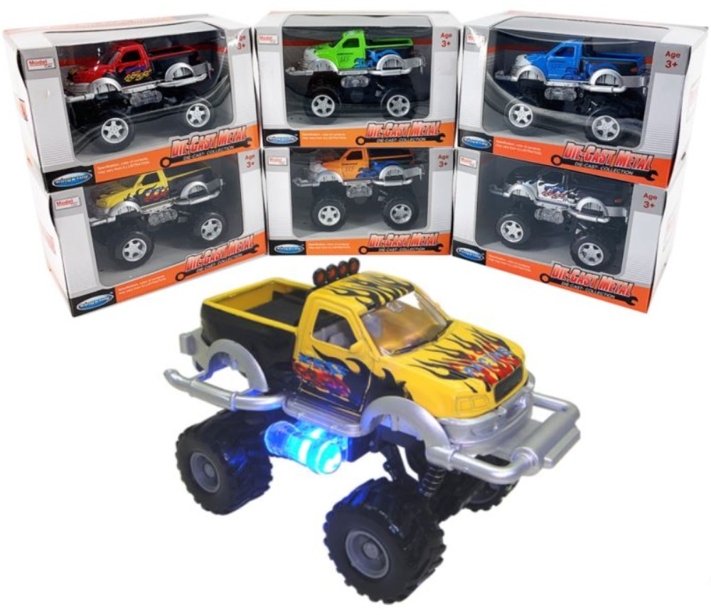 1:32 Diecast Model Off-Road Pick-Up with Flame FY854W