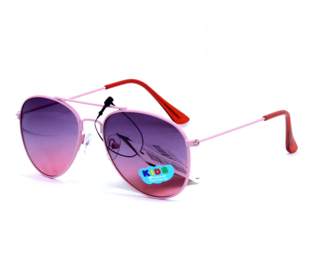 Kids Colour Lens Aviator Metal Sunglasses KM8062-2