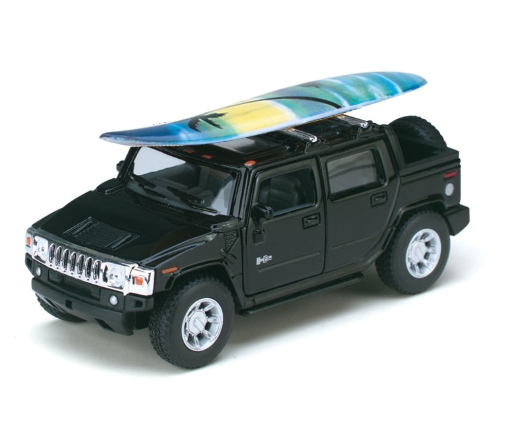 "1:40 5"" 2005 Hummer H2 SUT with Surfboard KT5097DS"
