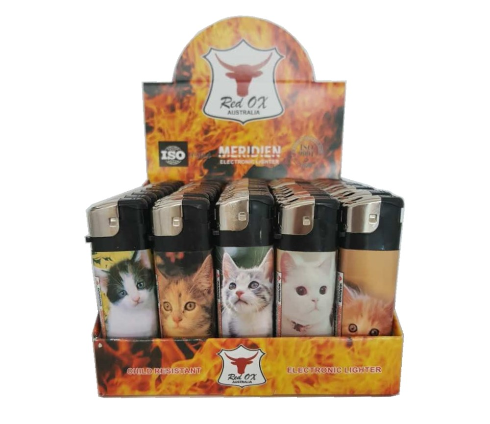 Cat Electronic Gas Refillable Lighters RF-834-Cat