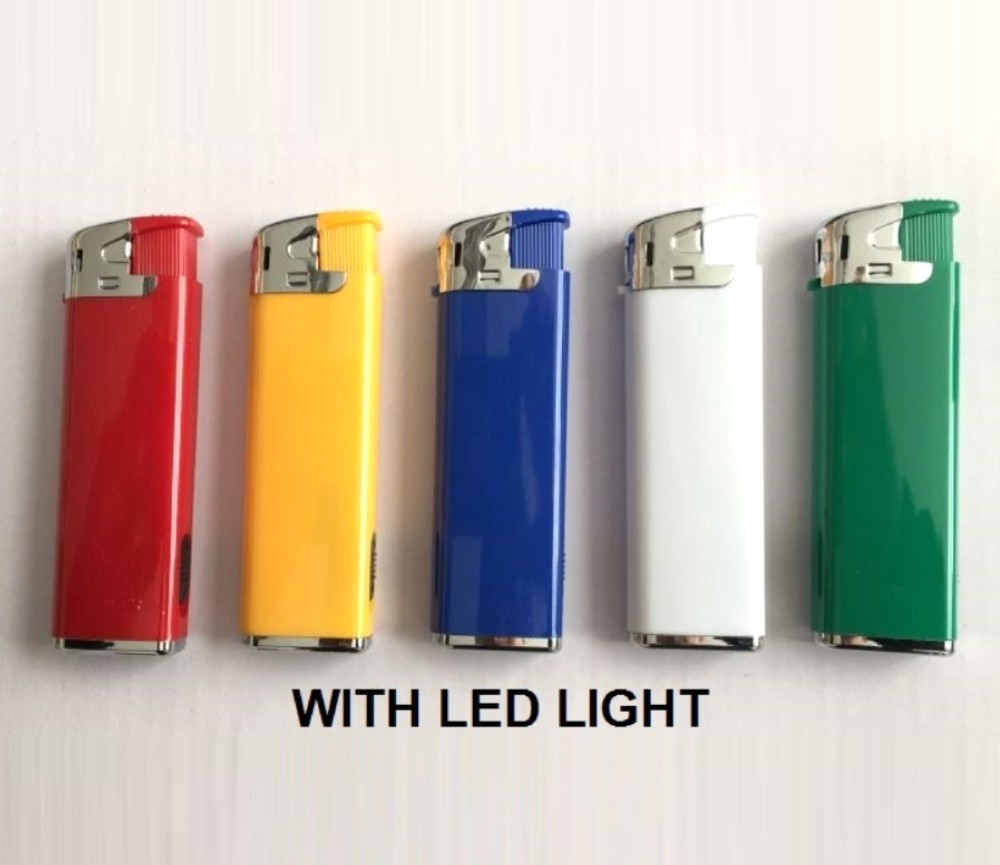 Led Electronic Gas Refillable Lighters RF-QMD-507-Led