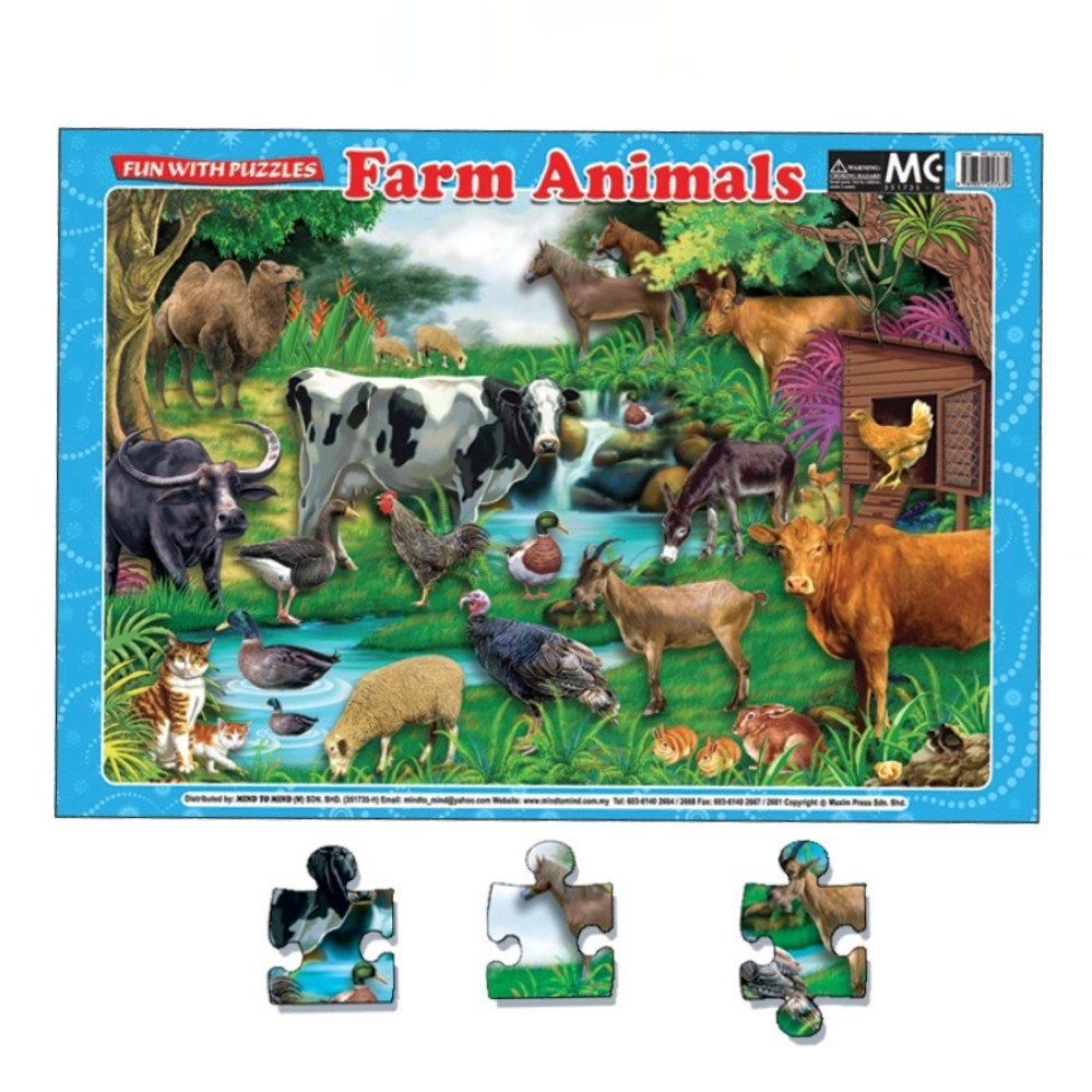 Fun With Puzzles Farm Animals (MM01591)