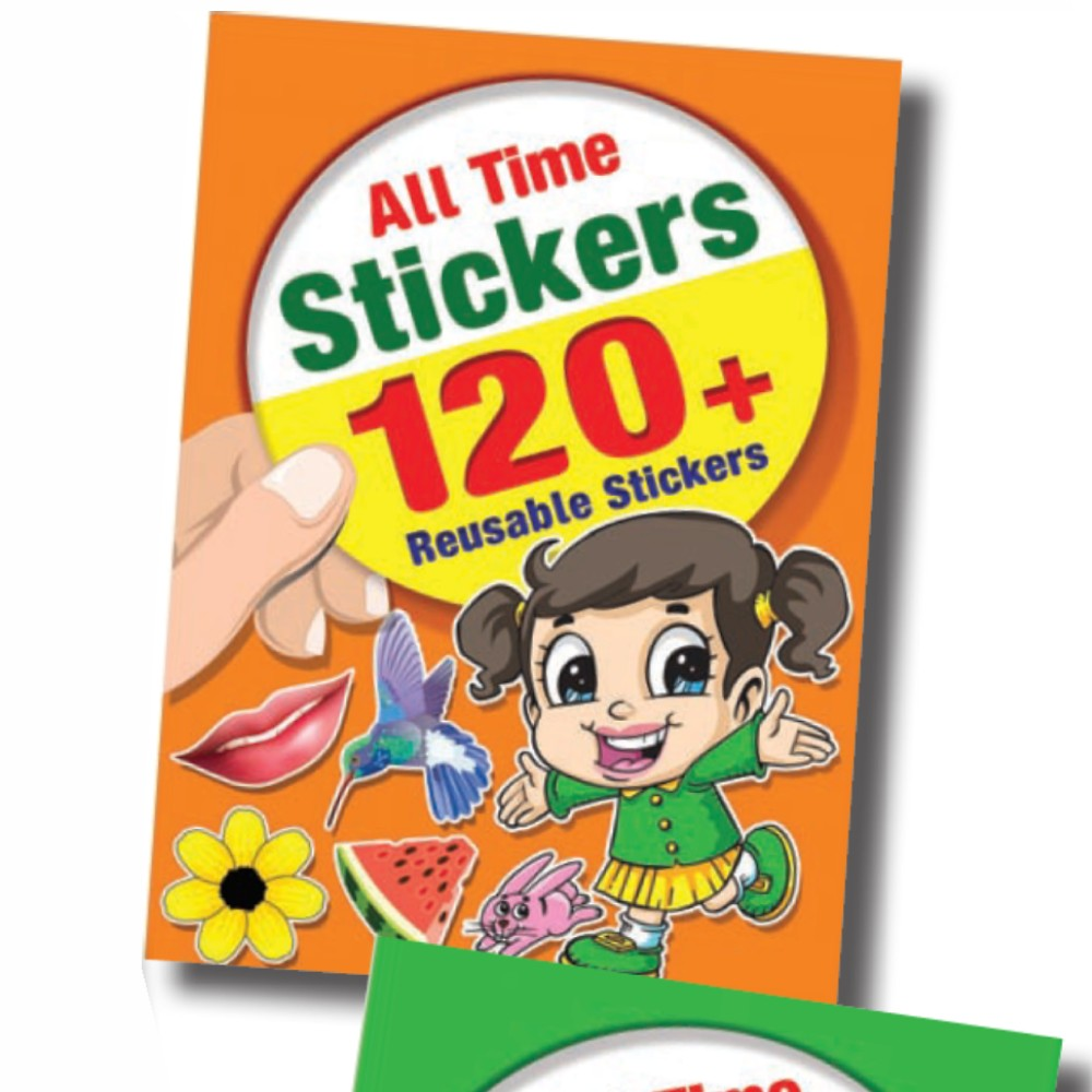 All Time Stickers 120 + Reusable Stickers (MM14553)