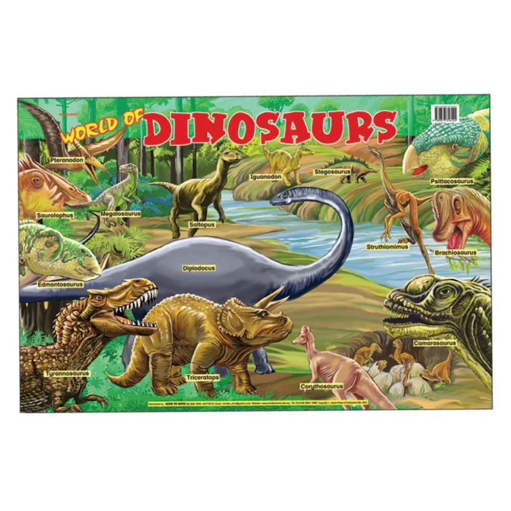 Educational Chart World Of Dinosaurs MM16359