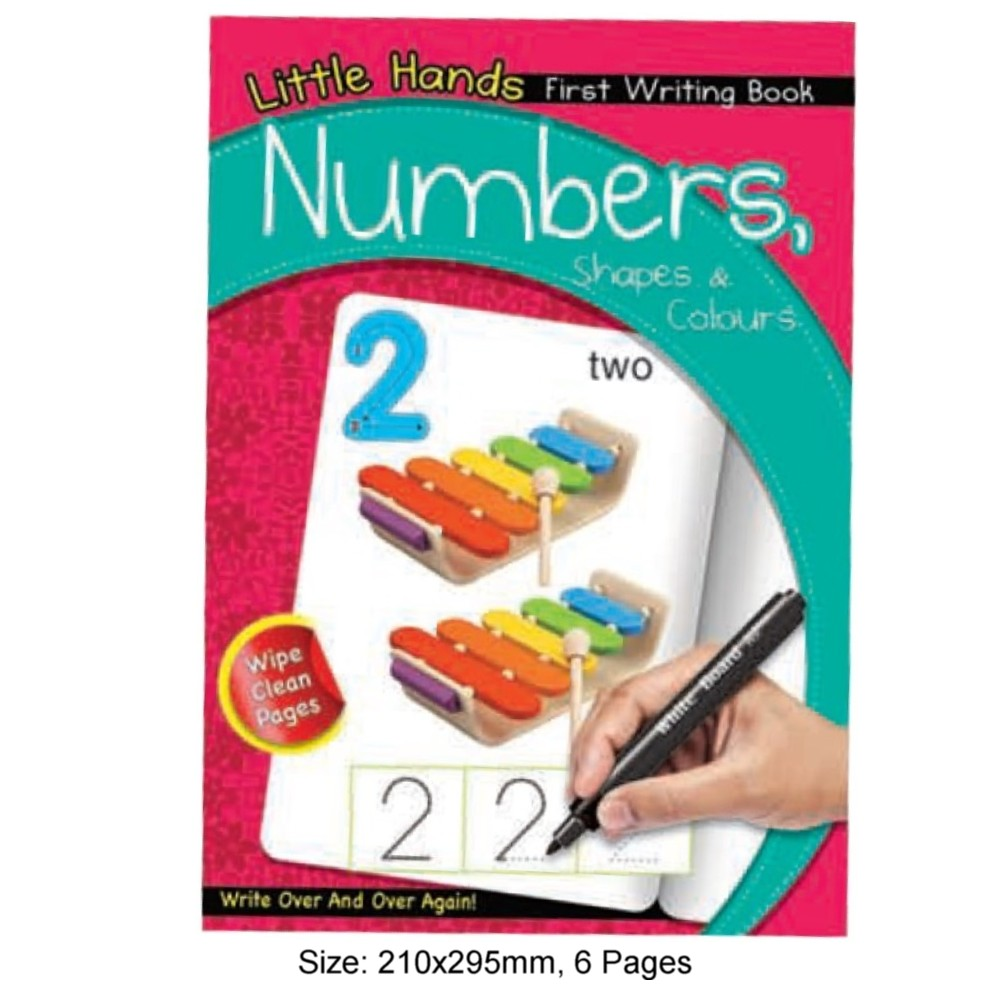 Little Hands First Writing Book Numbers Shapes & Colours (MM17165)