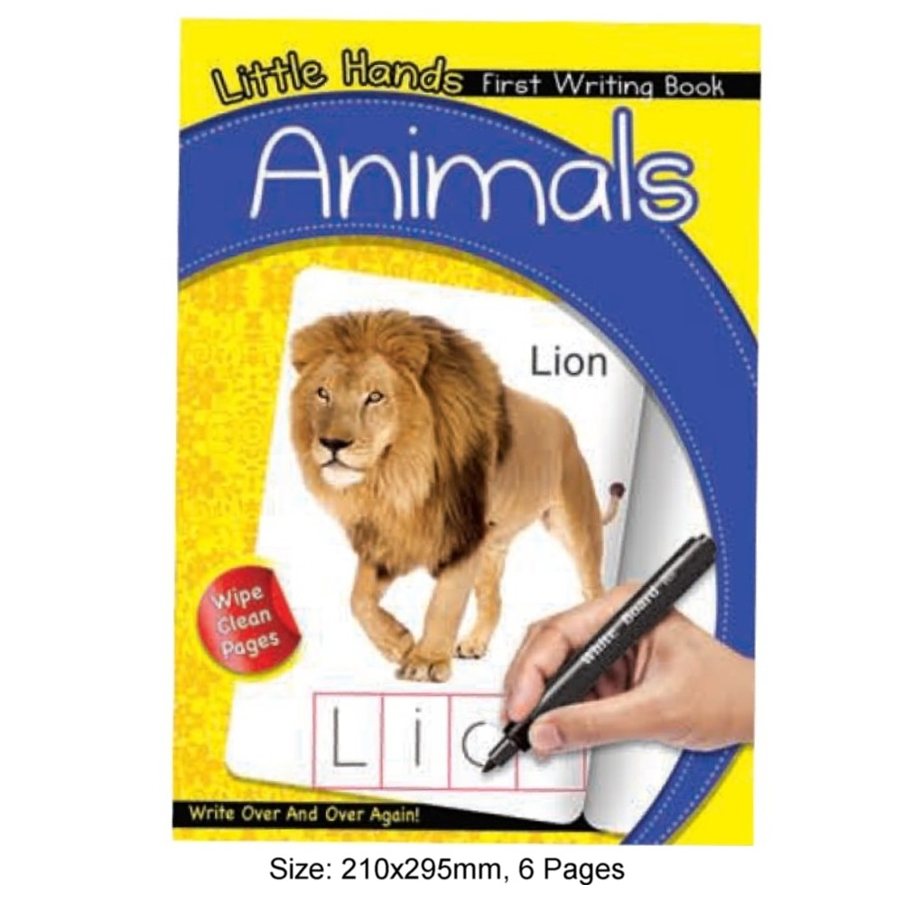 Little Hands First Writing Book Animals (MM17172)