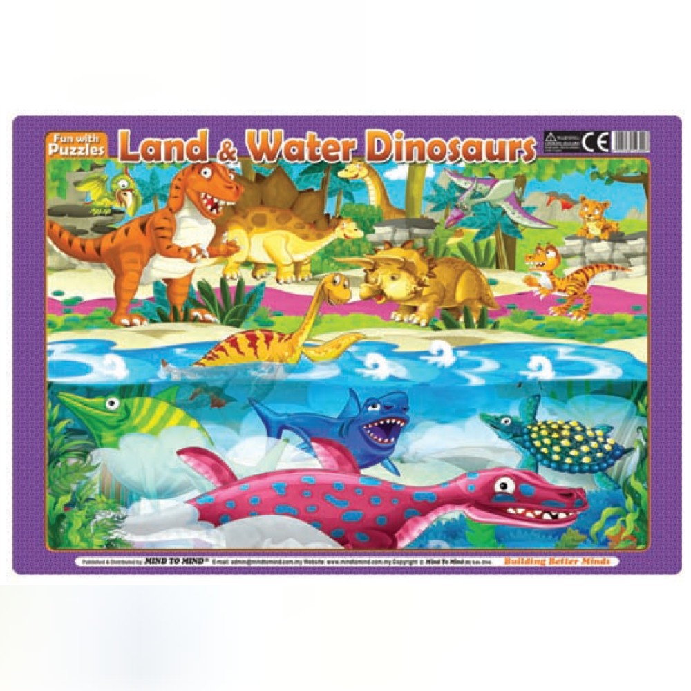 Fun With Puzzles Land & Water Dinosaurs (MM23007)
