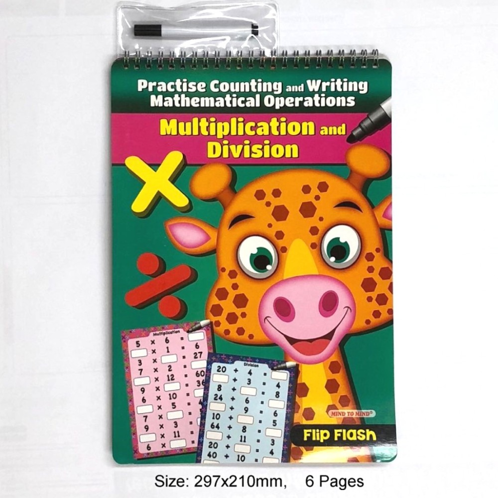 Flip Flash Practise Counting and Writing Mathematical Operations Multiplication and Division (MM29007)