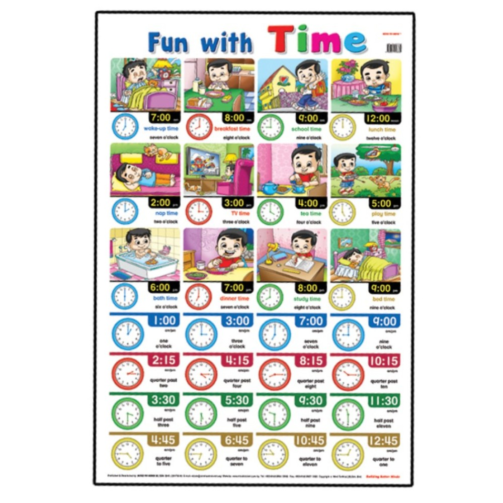 Educational Chart Fun With Time (MM58334)