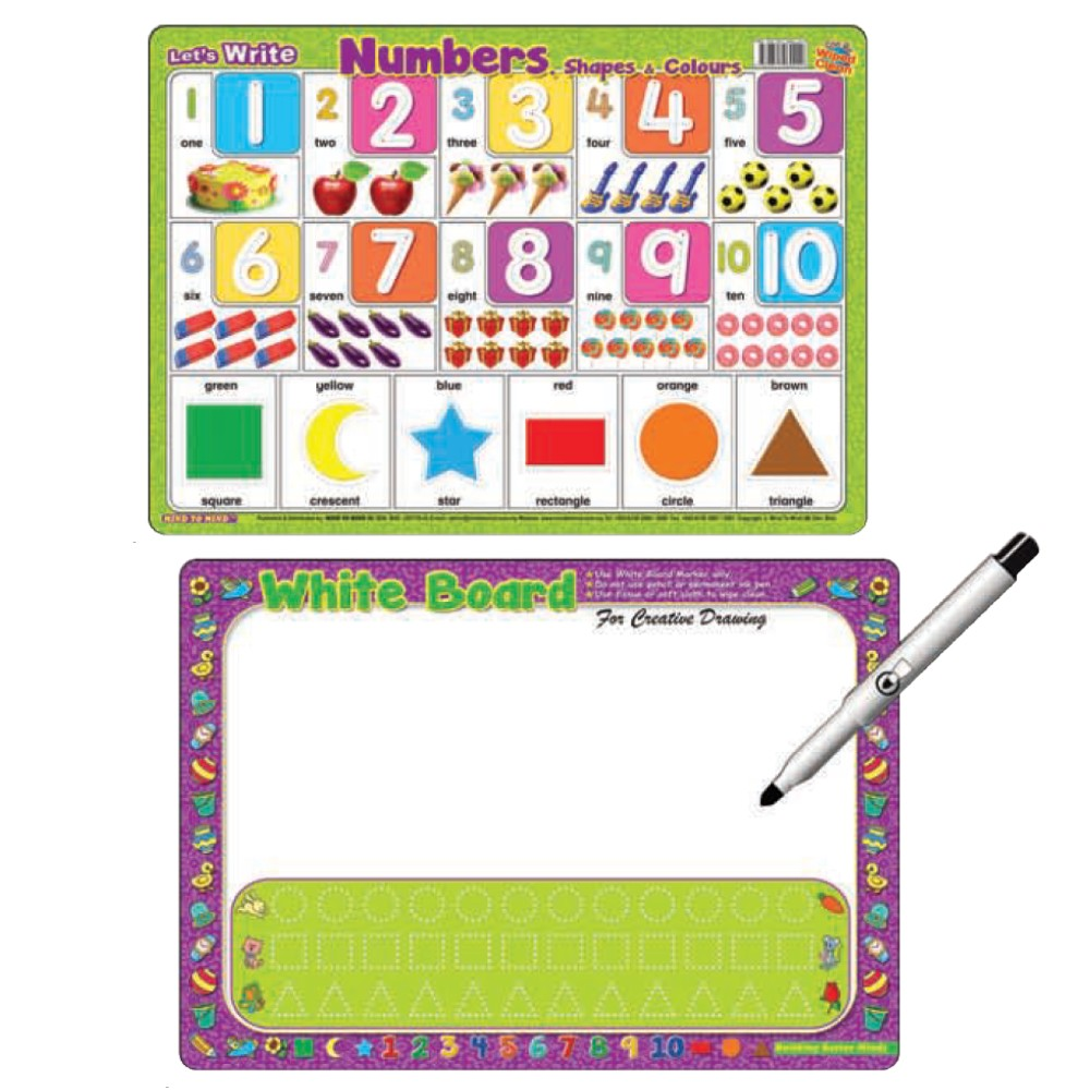 Writing Board Let's Write Number Shapes & Colours (MM60229)