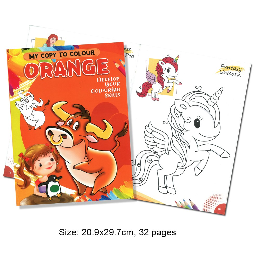 My Copy To Colour ORANGE Develop Your Colouring Skills (MM69178)