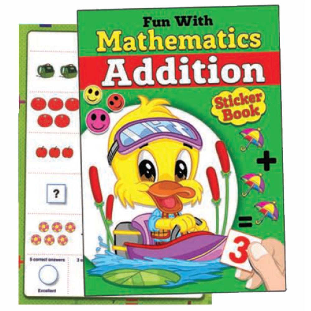 Fun With Mathematics Addition Sticker Book (MM70586)