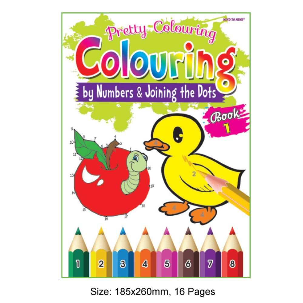 Pretty Colouring Book 1 (by Numbers & Joining the Dots) (MM73341)