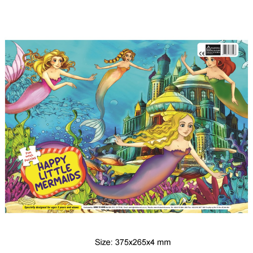 Fun With Puzzle Happy Little Mermaids (MM81408)
