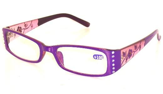 Ladies Rhinestone Reading Glasses Plastic Frame R9026