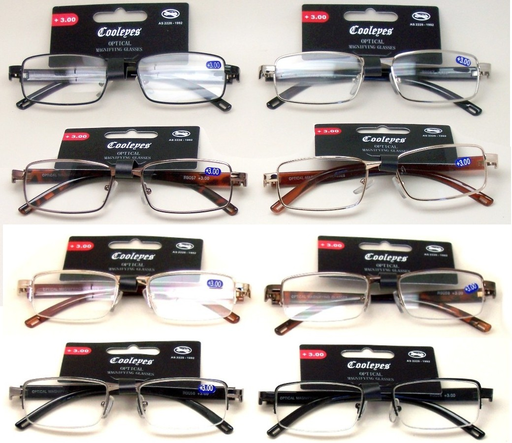Fashion Reading Glasses Metal Frame (2 Style) R9057-R9058