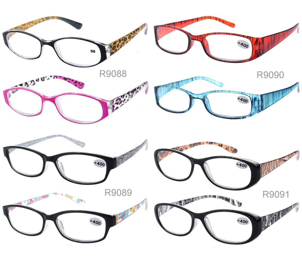 Ladies Fashion Reading Glasses Plastic Frame R9088/89/90/91