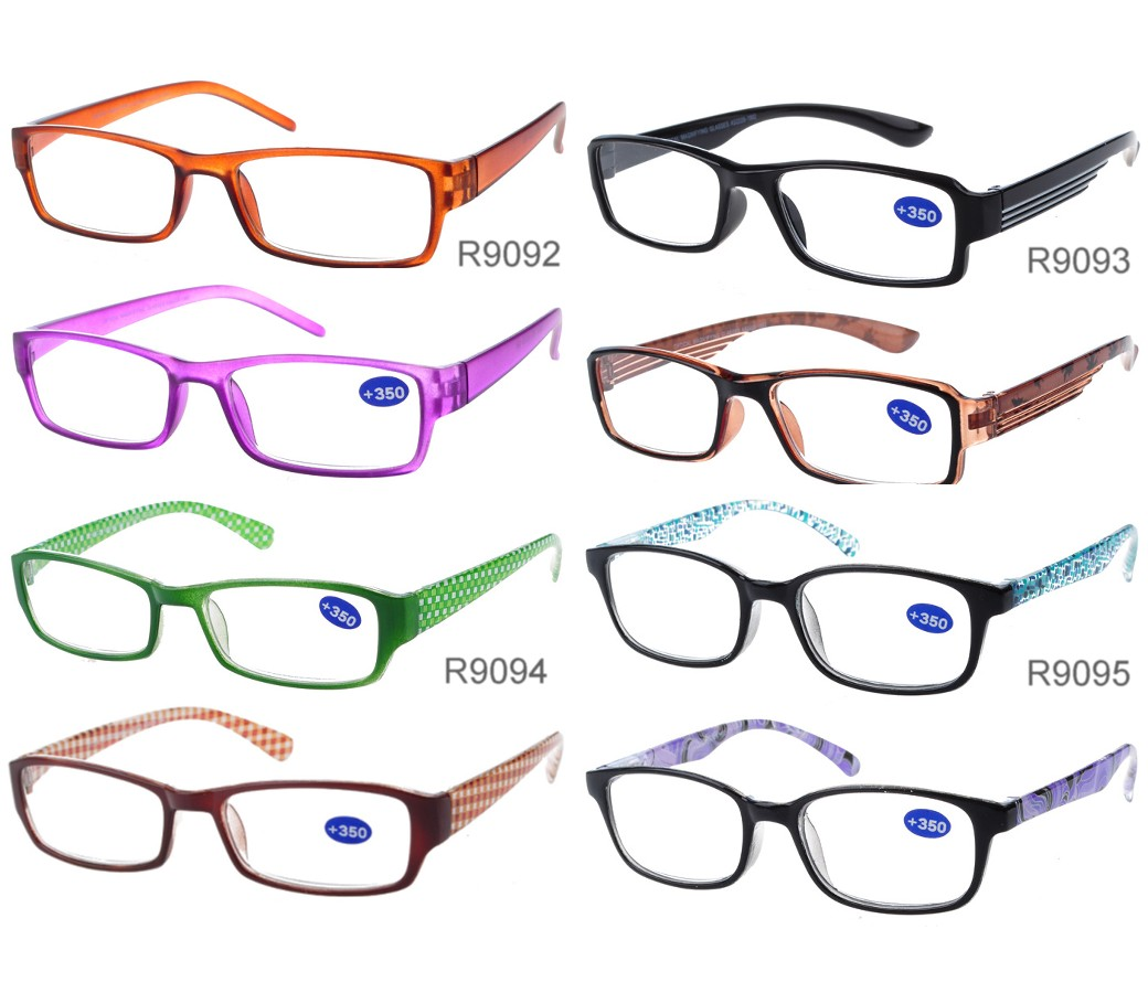 Unisex Fashion Reading Glasses Plastic Frame R9092/93/94/95