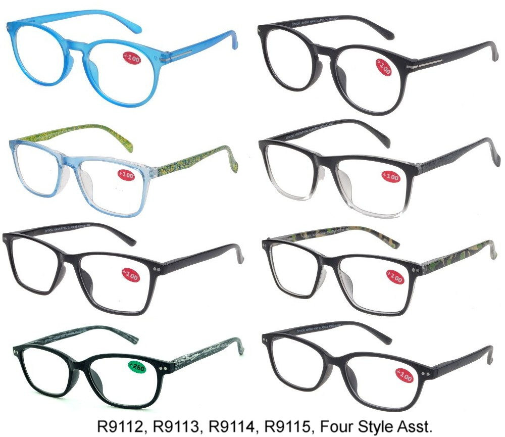 Cooleyes Plastic Reading Glasses Ladies 4 Style Asstd R9112/13/14/15