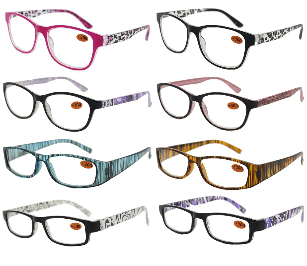 Ladies Fashion Plastic Reading Glasses 4 Style Asstd R9172/73/74/75
