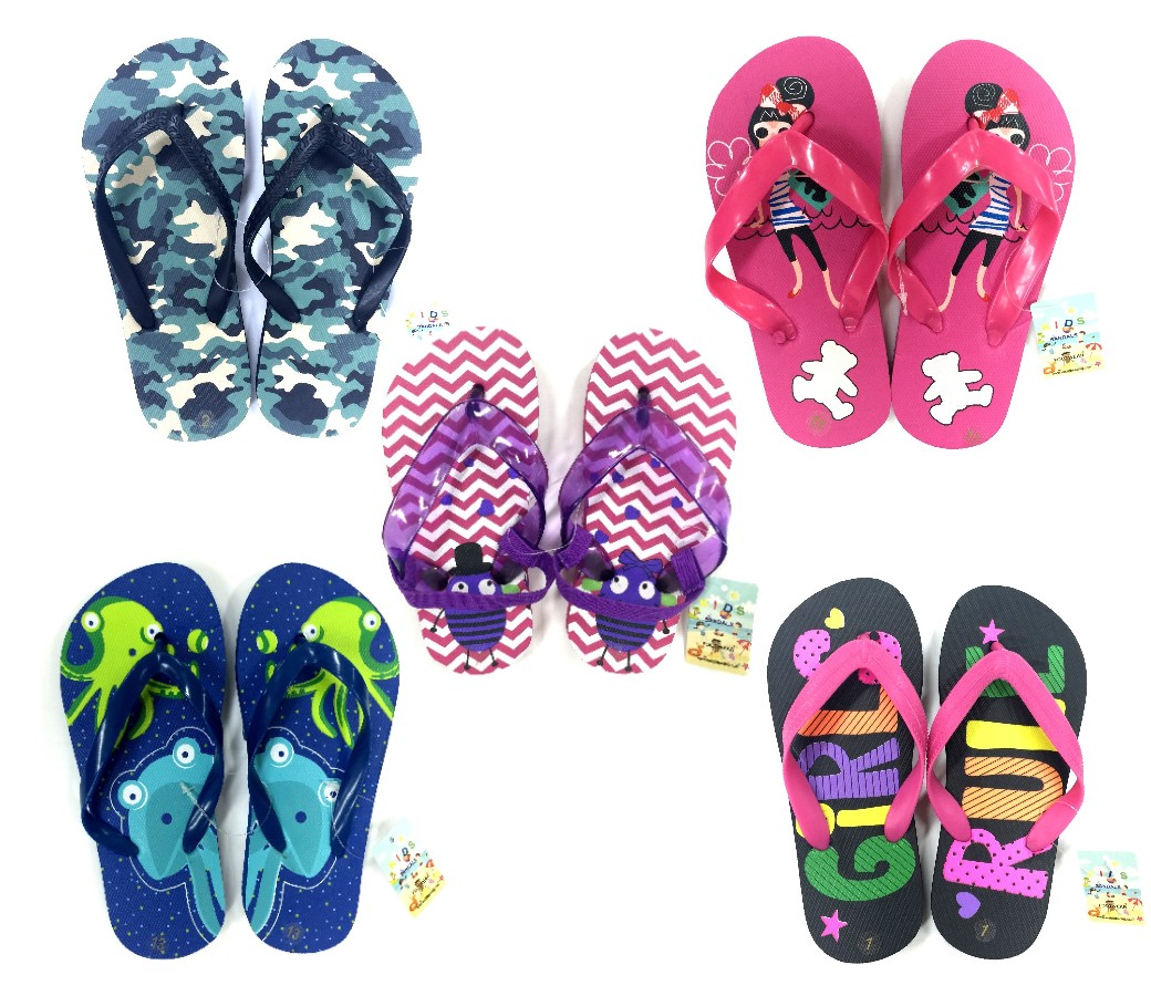 Kids Beach Sandals (50 pair, 1 ctn)