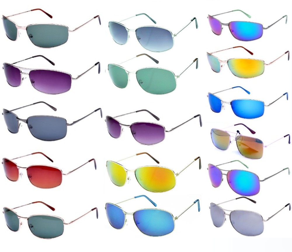 300 Pairs Bulk Buy Tint & Smoke Lens Sports Metal Sunglasses