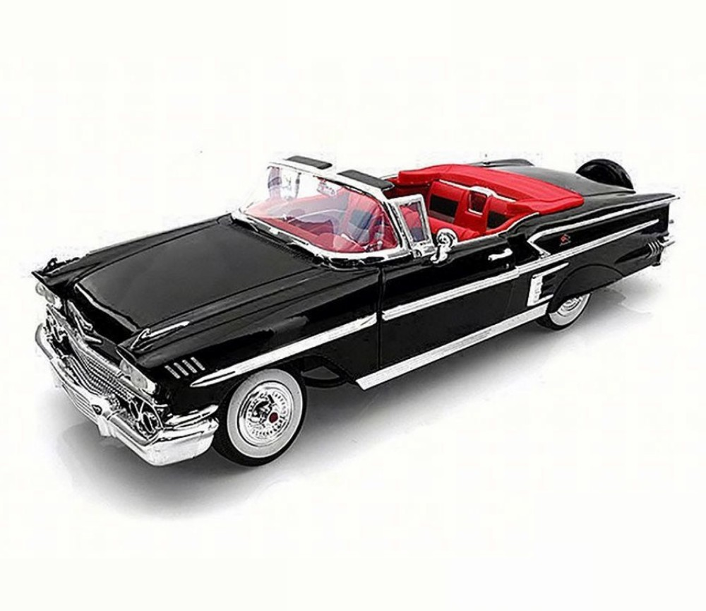 1:18 1958 Chevrolet Impala (Black) MM73112BK