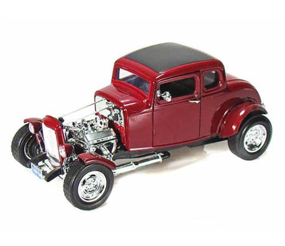1:18 1932 Ford Five Window Coupe Hot Rod (Red) MM73172RD