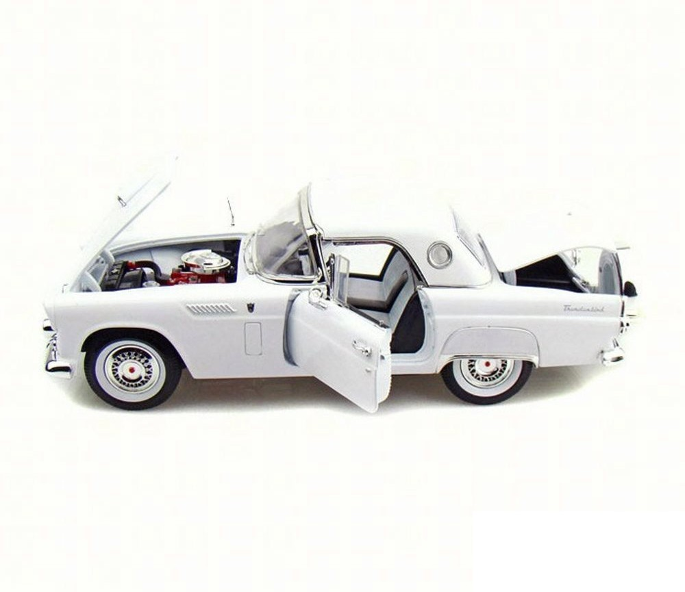 1:18 1956 Ford Thunderbird Convertible, Removable Top (White) MM73176WH