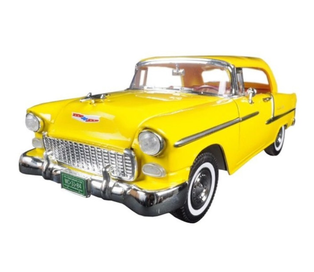 1:18 1955 Chevy Bel Air Convertible with soft top (Yellow) MM73184YL