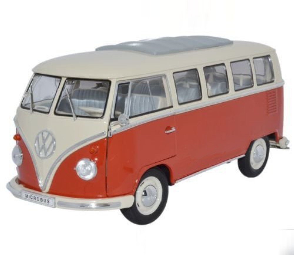 1:18 1963 Volkswagen T1 Bus (Window Van) WL18054W