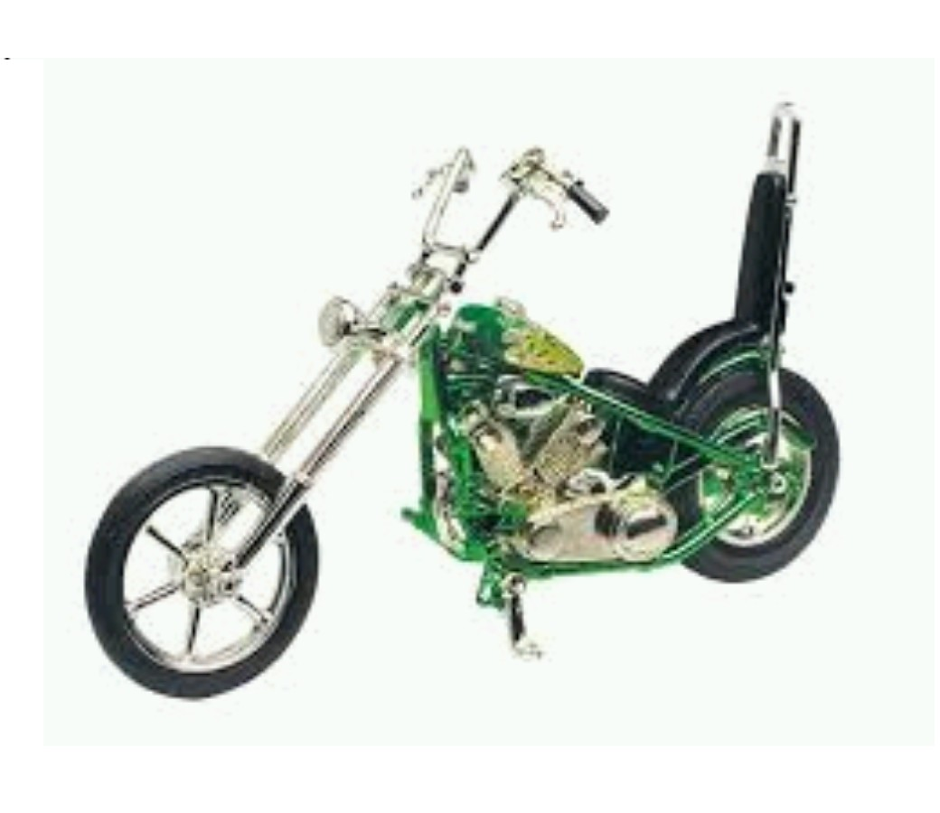 Iron Choppers 1:18 Die Cast Bike (Green) MMM431F