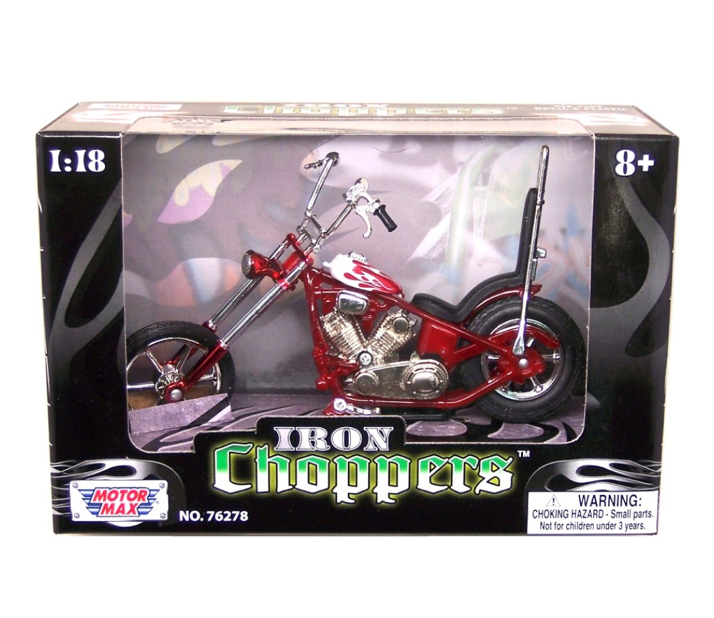 Iron Choppers 1:18 Die Cast Bike (Blue) MMM431I