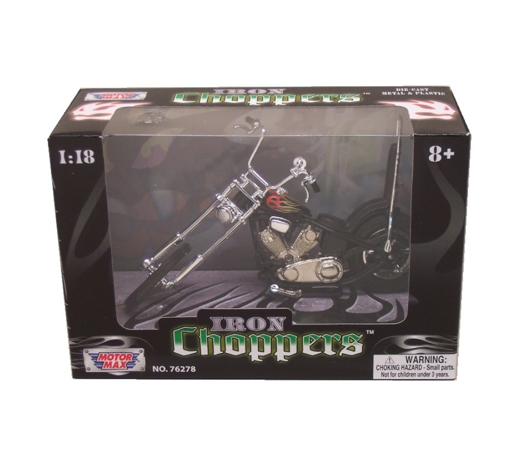 Iron Choppers 1:18 Die Cast Bike (Black) MMM431K