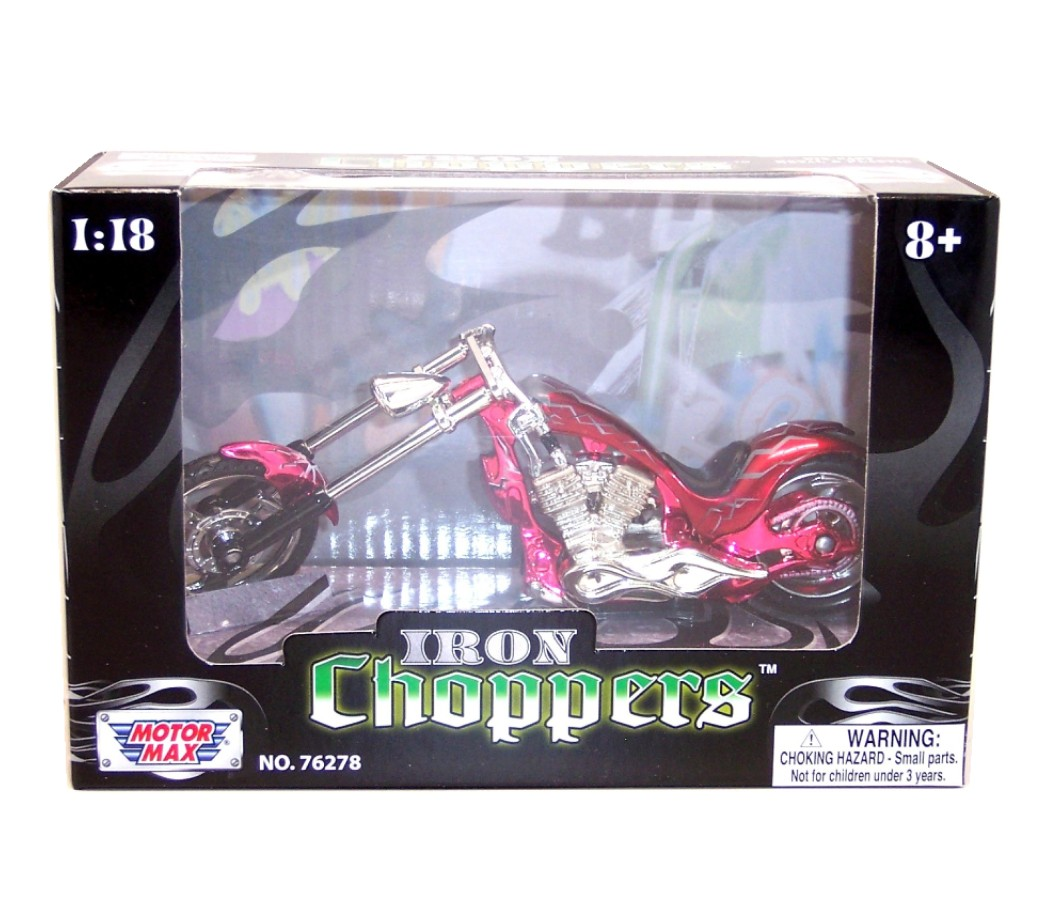 Iron Choppers 1:18 Die Cast Bike (Red) MMM442E