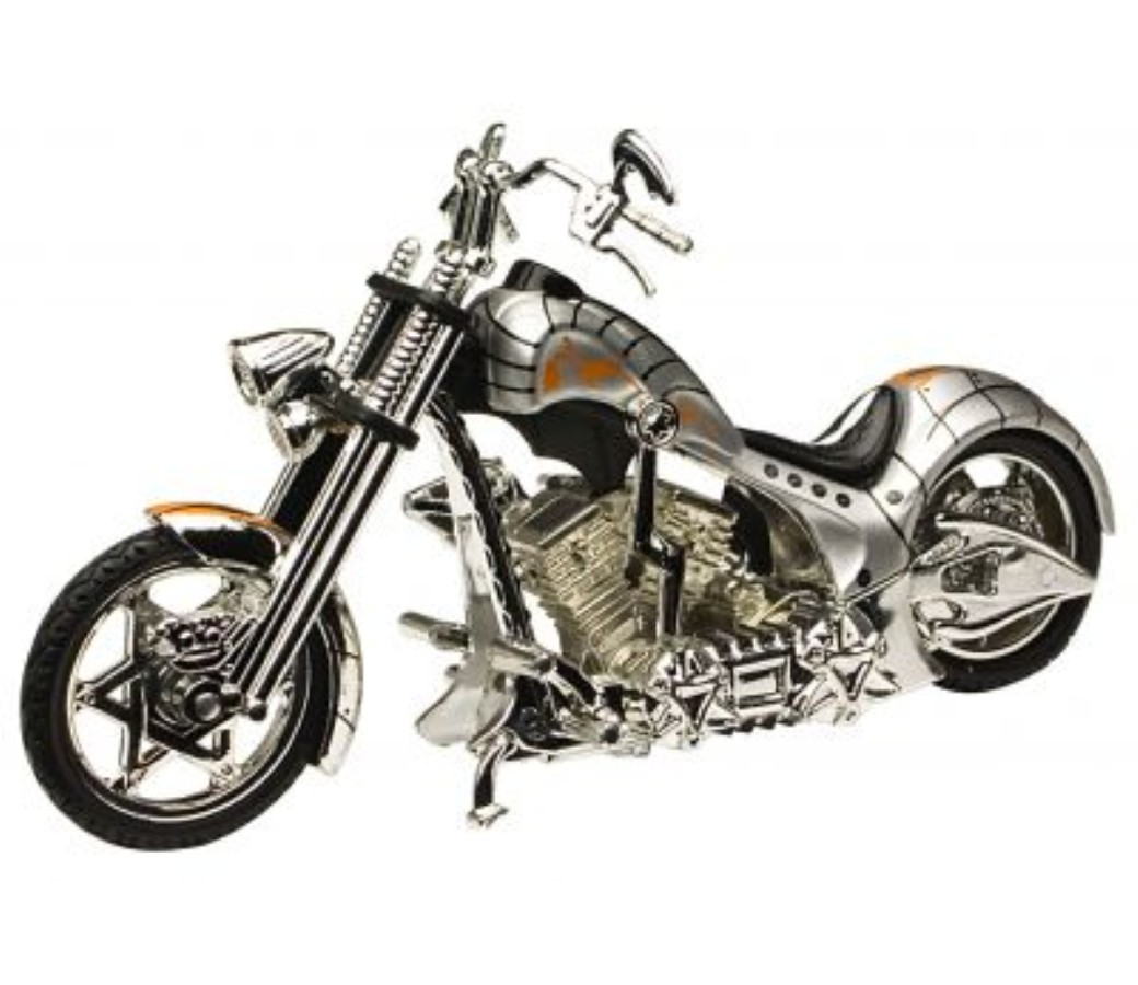 Iron Choppers 1:18 Die Cast Bike (Silver) MMM443B