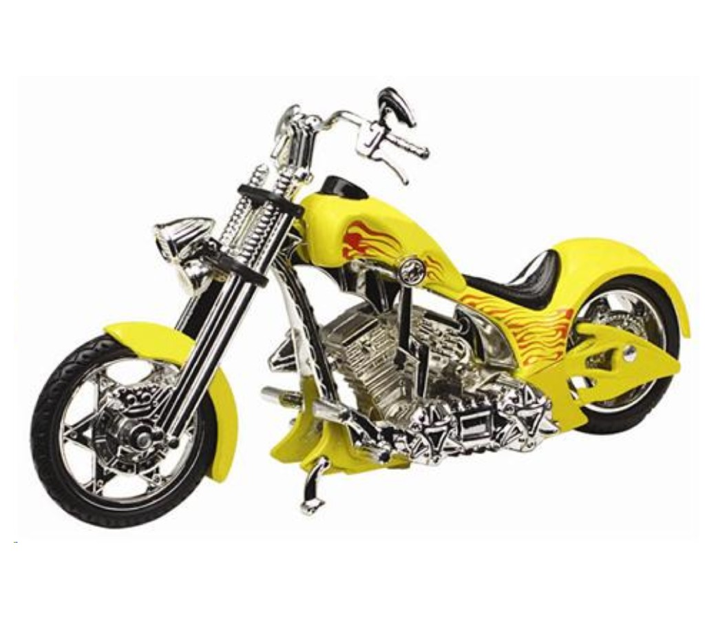 Iron Choppers 1:18 Die Cast Bike (Yellow) MMM443D