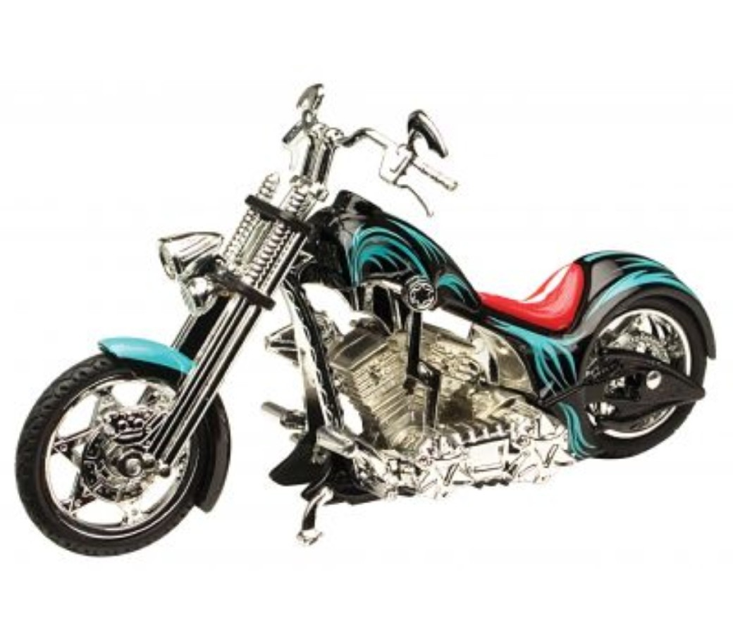 Iron Choppers 1:18 Die Cast Bike (Black) MMM443F