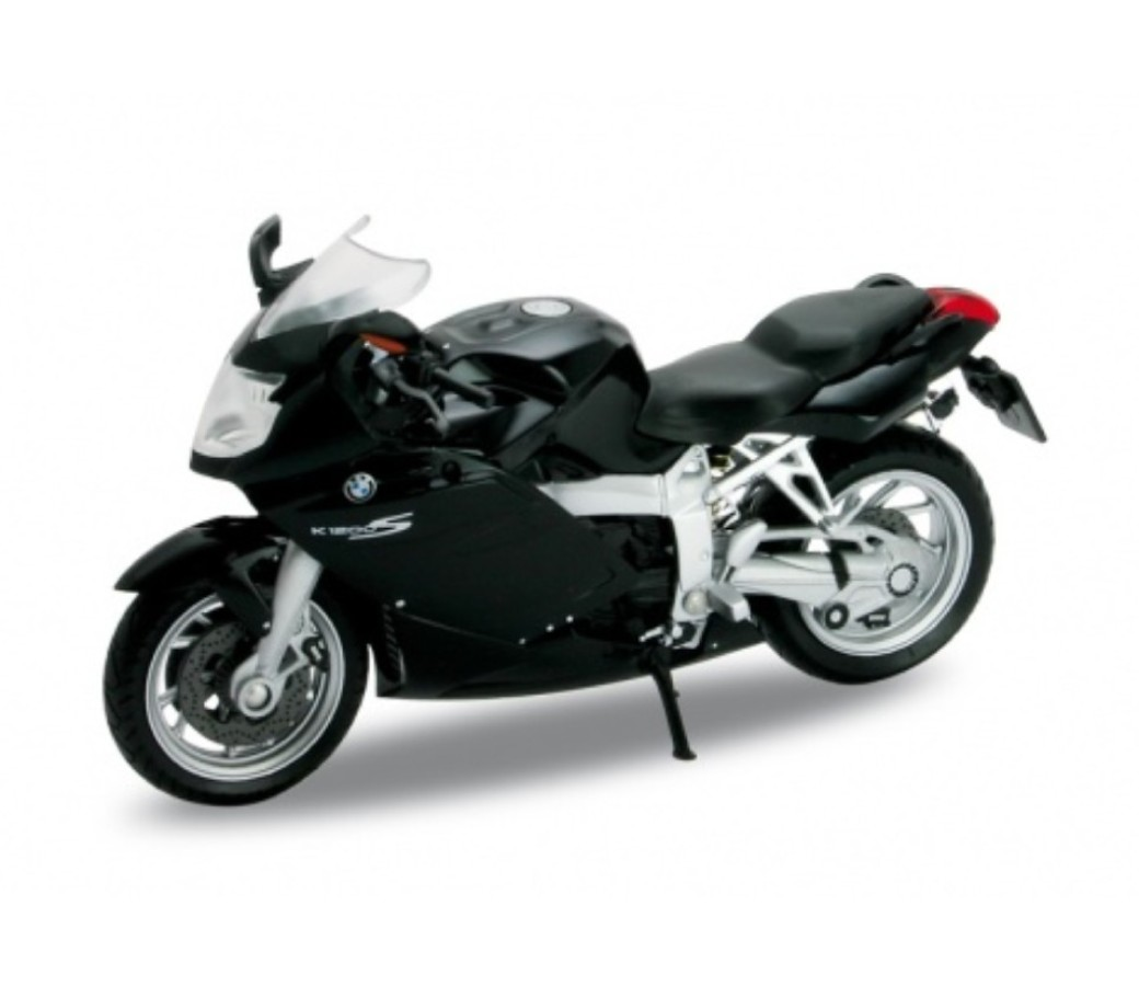 BMW K1200S 1:18 Die Cast Bike (Black) WL12829