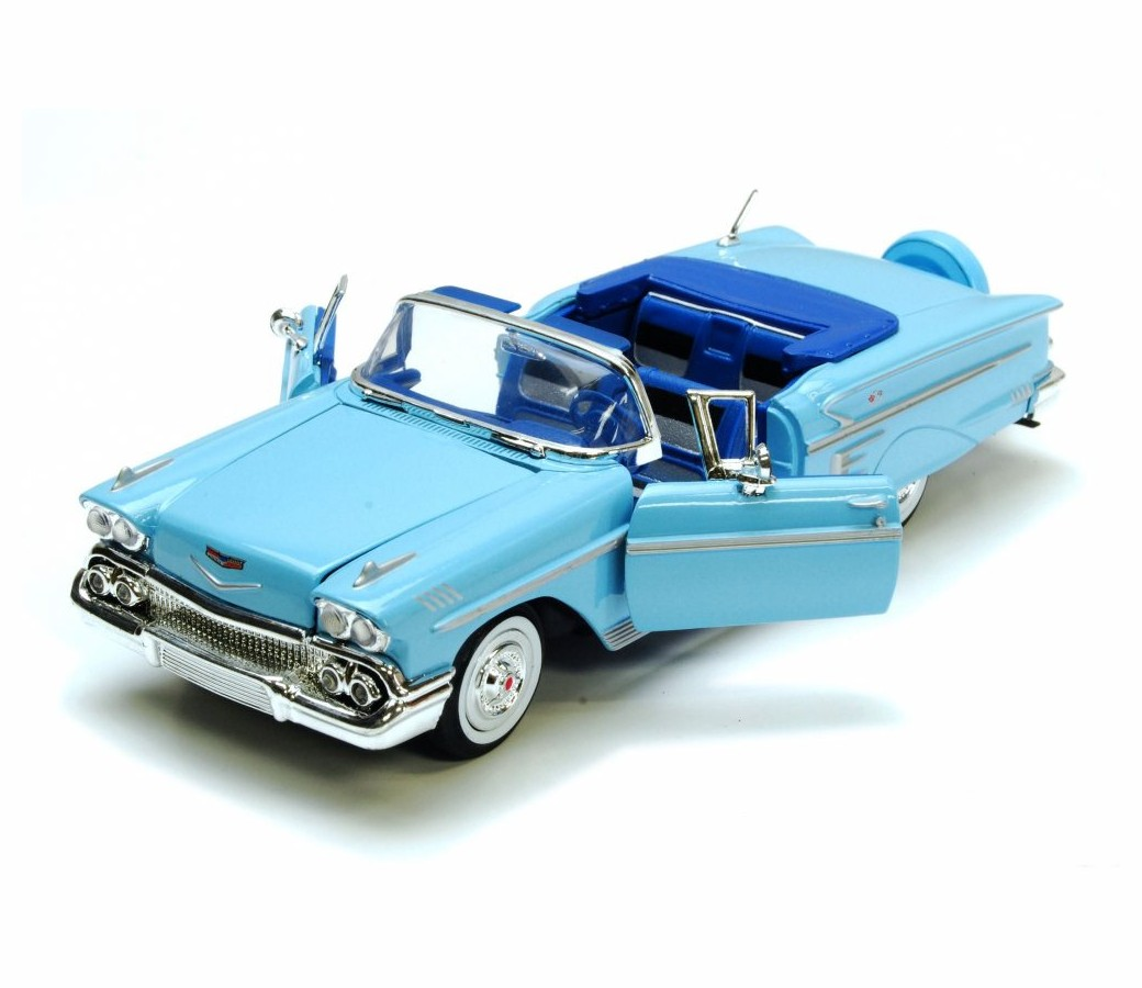 1:24 1958 Chevy Impala (Light Blue) MM73267LB