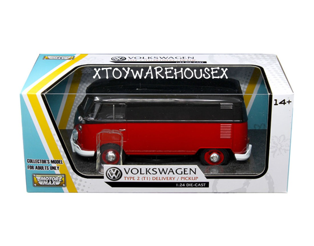 1:24 VW Type 2 (T1) - Delivery Van (Black/ Ruby Red) MM79342BR
