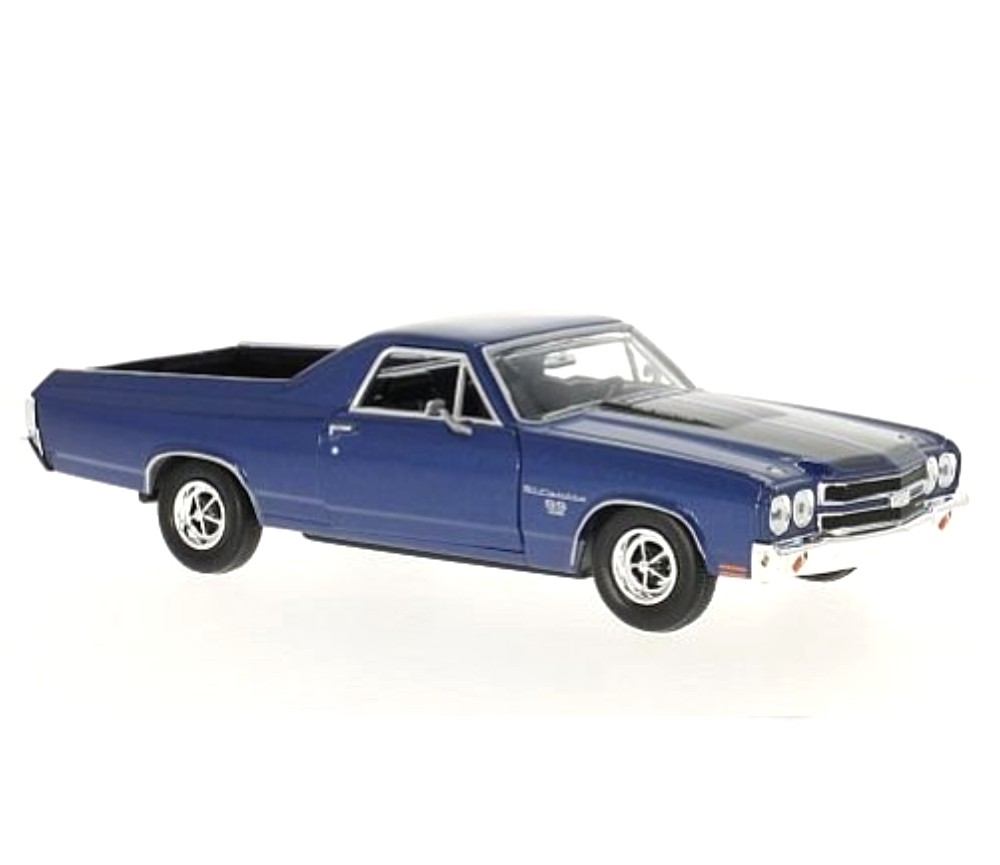 1:24 1970 Chevy El Camino SS 396 (Metallic Dark Blue) MM79347DB
